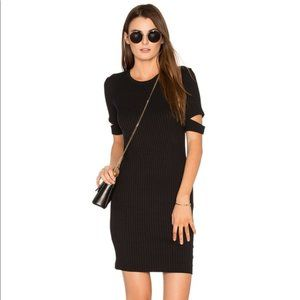 LNA Black Mini Esso Dress 3/4 Sleeves Size Small